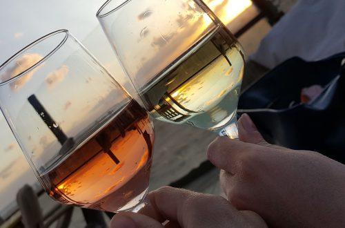 Wijntjes op het strand van Scheveningen